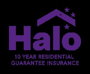 Halo Building Guarantee Logo in Purple